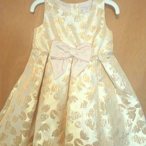 3T gold dress